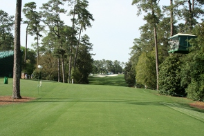18th tee at Augusta